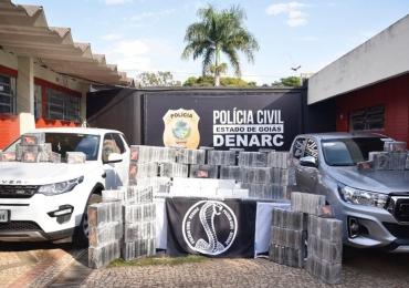 Polícia Civil realiza a maior apreensão de cocaína pura da história de Goiás