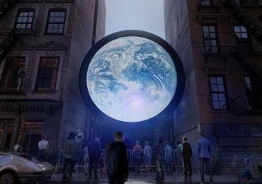 Imagens do planeta Terra são projetadas ao vivo em Nova York