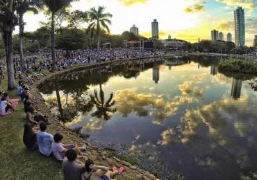 Sinfônica de Goiânia se apresenta em parque da capital no Dia dos Pais