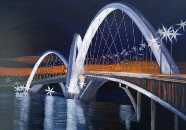 Com entrada gratuita, exposição 'Pontes' chega a Brasília Os 13 trabalhos da artista Mari Lasta ficarão expostos na galeria do Pátio Brasil