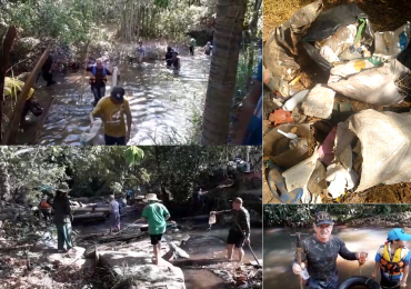 Quem ama cuida: goianos fazem 'Desafio do Lixo' e limpam córrego próximo a Goiânia