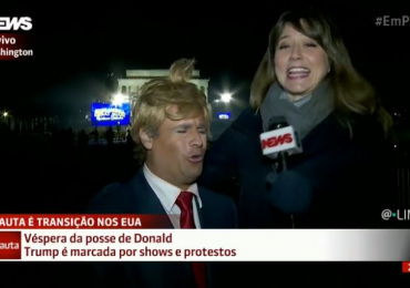 Vídeo: repórter da Globo News entrevista Vesgo, do Pânico, achando que é um americano