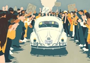 Fusca ganha vídeo de despedida ao som dos Beatles