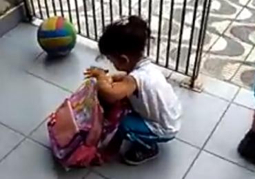 Vídeo: pai descobre segredo em mochila da filha e viraliza nas redes sociais