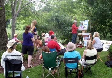 Arte no parque: grupo se reúne para desenhar ao som da Orquestra Sinfônica de Goiânia no Bosque dos Buritis