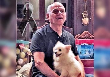 Boechat resgatou e adotou cadelinha que estava sob maus-tratos em canil