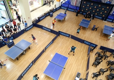 Shopping de Brasília recebe campeonato de tênis de mesa