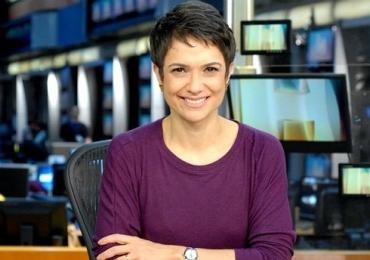 Greve Geral: Maquiadora de Sandra Annenberg deixa apresentadora na mão e olheiras viram notícia