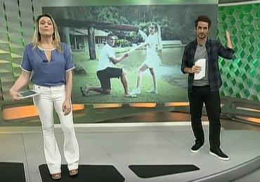 Esporte Espetacular comete gafe com Walter do Atlético-GO e Fernanda Gentil se desculpa ao vivo