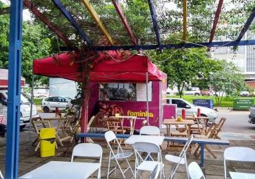 Food truck serve pizzas no cone pelos quatro cantos de Brasília