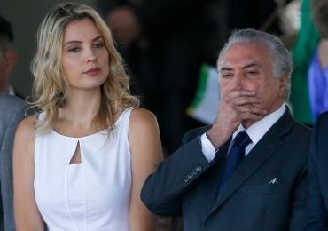Marcela Temer usa vestido criado pela estilista brasiliense Luisa Farani