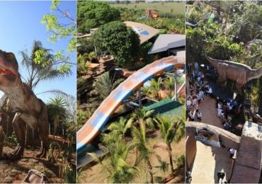 'Jurassic Park' brasileiro emaior complexo de toboáguas radicais do país ficam a poucas horas de Uberlândia