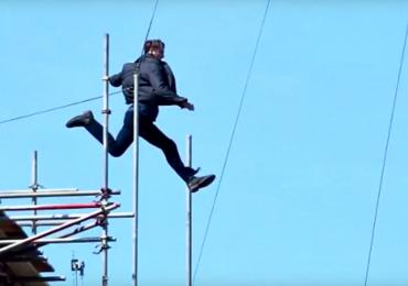 Vídeo: Tom Cruise se acidenta e quebra dois ossos durante gravações de Missão Impossível