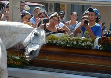 Vídeo: Cavalo comove família de vaqueiro ao 'se despedir' no velório do dono