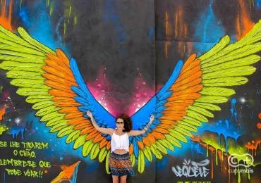 Artista presenteia Goiânia com painel interativo incrível no Beco da Codorna