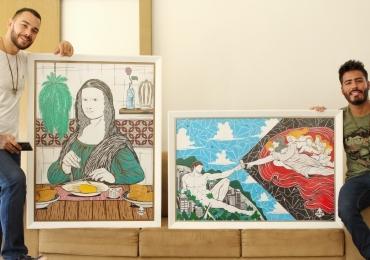 Tape Arte: artistas de Goiânia transformam fita isolante em obras de arte
