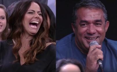 Pai de Anitta rouba a cena no 'Altas Horas' e se declara para Viviane Araújo; veja o vídeo