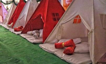 Shopping de Goiânia promove acampamento de Natal para crianças carentes