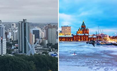 É oficial: faz mais frio em Goiânia hoje do que na Finlândia