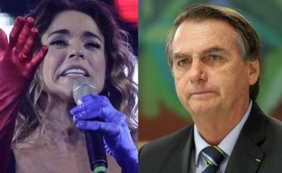 Bolsonaro rebate críticas de Daniela Mercury e Caetano Veloso