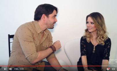 Sandy mostra tatuagem e comenta boato sobre a volta de 'Sandy & Júnior' em entrevista exclusiva ao Curta Mais; veja o vídeo