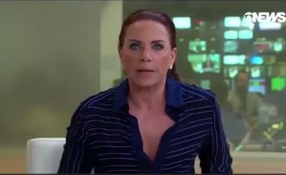 Celular de apresentadora toca durante transmissão ao vivo na Globo News e jornalista se desespera