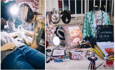 Feira com tatuagem, lojas, comidas e cerveja artesanal é opção de lazer no feriadão em Uberlândia