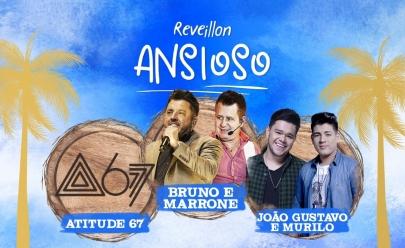 Bruno e Marrone, Atitude 67 e João Gustavo e Murilo animam Réveillon Ansioso em Goiânia
