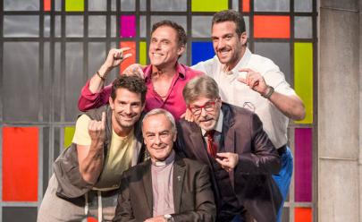 Oscar Magrini e Iran Malfitano estrelam o espetáculo de comédia Cinco Homens e Um Segredo em Goiânia