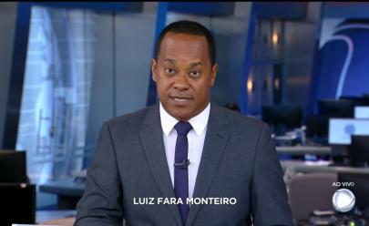 Luiz Fara Monteiro estreou como apresentador do Jornal da Record neste sábado