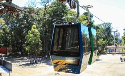 Com apenas 13 dias de funcionamento, teleférico de Goiânia é fechado para o público no Parque Mutirama