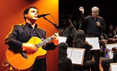 Show que promove encontro entre Frejat e o maestro João Carlos Martins acontece em Goiânia