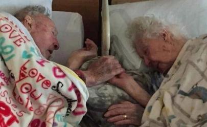 Homem de 100 anos se despede de sua esposa de 96 e emociona internautas