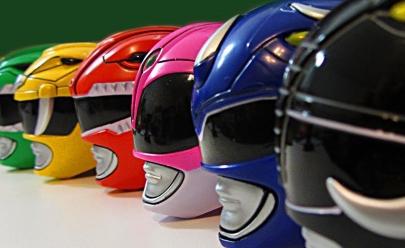 Evento geek traz para Goiânia exposição de capacetes dos Power Rangers em tamanho real