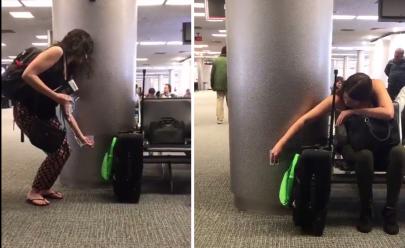 Internauta inventa forma simples e criativa de fazer o tempo no aeroporto passar mais rápido