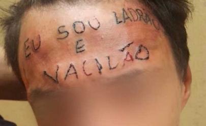 Rapaz tatuado com 'ladrão e vacilão' na testa é preso por furto