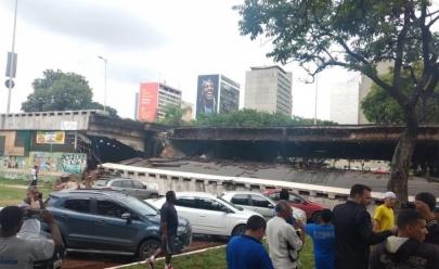 Desabamento de viaduto no centro de Brasília não deixou vítimas