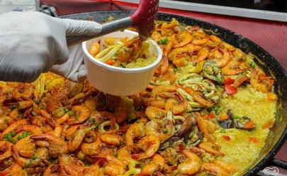 Achamos a autêntica Paella espanhola em uma feirinha de Goiânia