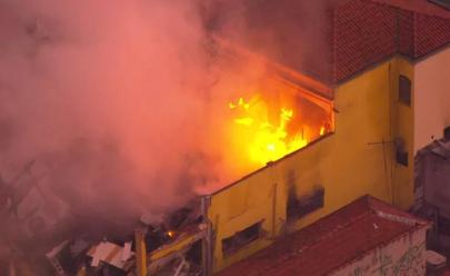 Supermercado explode e pega fogo na Zona Sul de São Paulo