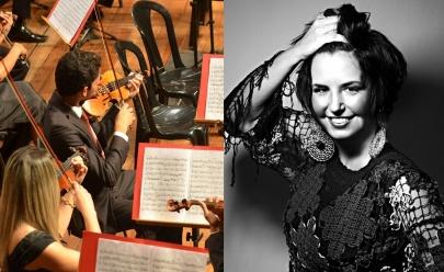 Elen Lara e Orquestra Sinfônica Jovem de Goiás tocam clássicos regionais em Goiânia