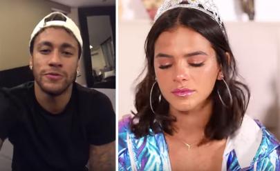 Neymar faz Bruna Marquezine chorar com declaração em vídeo e internautas se derretem