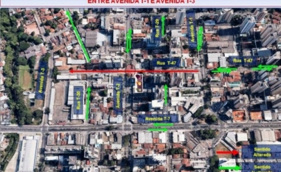 Rua T-47 recebe nova configuração viária no Setor Bueno