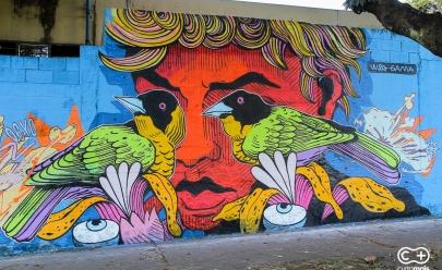 Grafiteiros deixam Goiânia mais colorida com arte em mural incrível