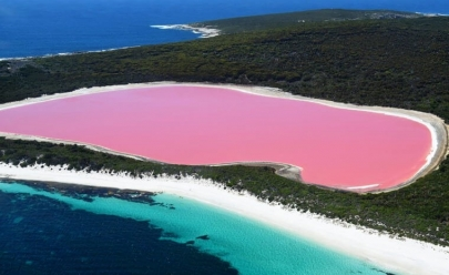 Conheça o exuberante lago rosa que tirará o seu fôlego