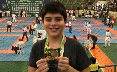 Conheça o goiano de 12 anos que representará o Brasil no Pan-Americano de karatê