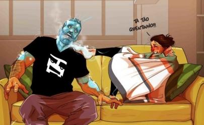 Ilustrações mostram de maneira divertida como é a vida de casado na visão de um marido
