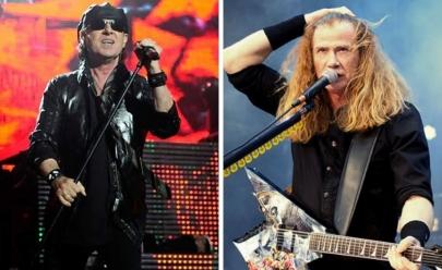 Lendas do rock, Scorpions e Megadeth fazem show em Brasília
