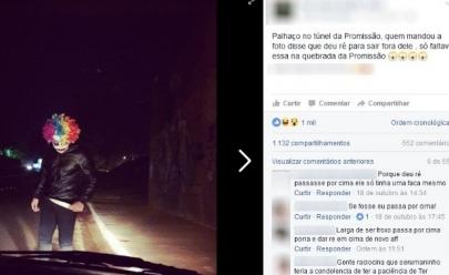 Polícia investiga foto de palhaço com faca na mão postada na web, em GO
