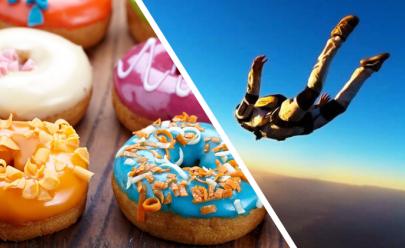 Concurso de quem come mais donuts em Goiânia dará ao vencedor um salto de paraquedas