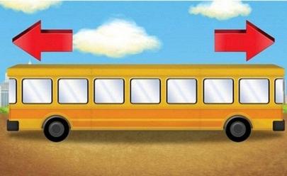 Desafio: você sabe para que lado este ônibus está indo?
